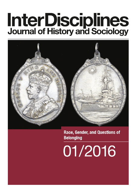 Cover: InterDisciplines (Ausgabe 1, Jahrgang 7, 2016), Race, Gender, and Questions of Belonging