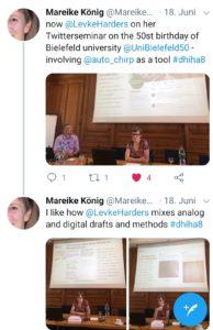 Während des Vortrags – Mareike König (@Mareike2405), 18.06.2019.